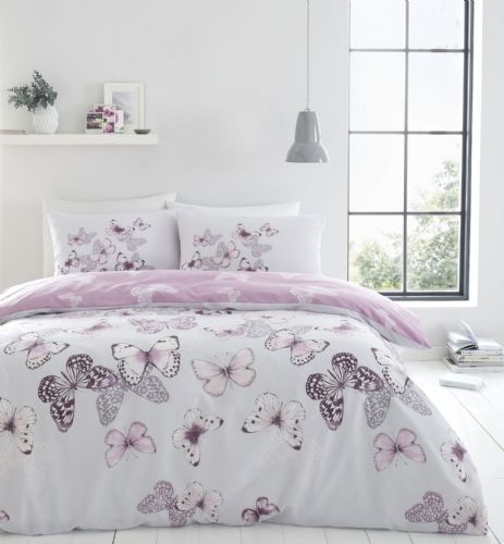 Catherine Lansfield Scatter Butterfly Heather Bedding Set